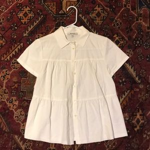 Madewell, tiered, white button down. Never worn.
